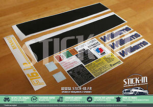 SET Complet Restauration Renault Clio Williams Phase 2 17 Autocollants Stickers