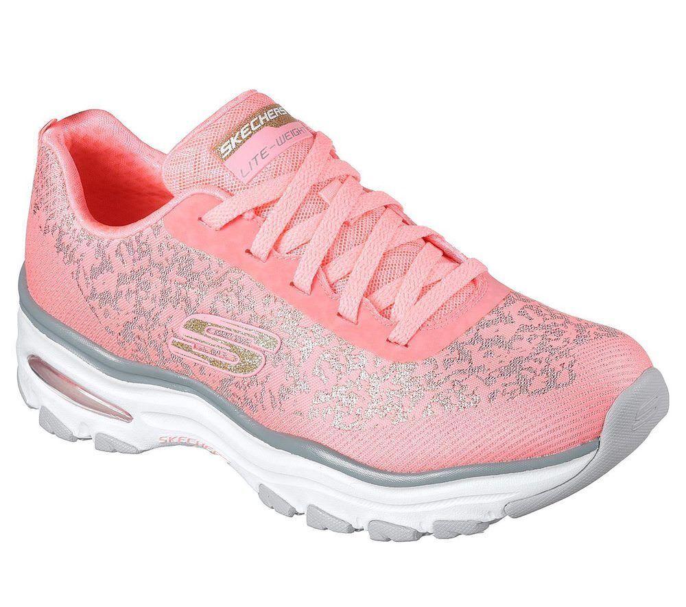 NUOVO Skechers da donna Scarpe da Ginnastica Turn Scarpa Scarpa Sportiva MEMORY FOAM D 'Lites Air rosé