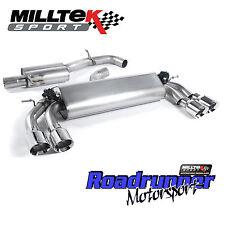 """Milltek Golf R MK7 Gato de escape sistema de respaldo para 3"""" con Válvula polaca GT100 CE"""