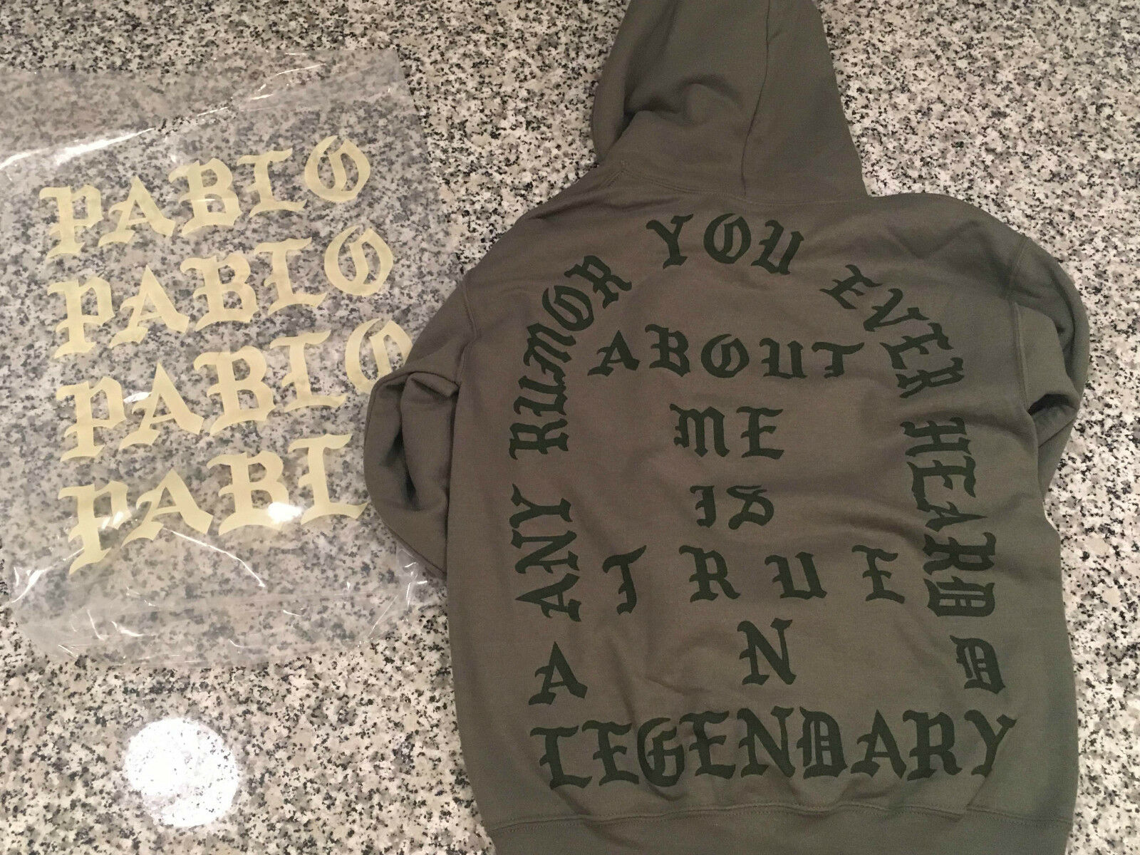 True and Legendary Hoodie Dallas Military Green Size Small
