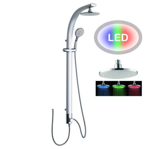 LED Aluminium Duschpaneel Duschsäule silber mit Regendusche von Sanlingo