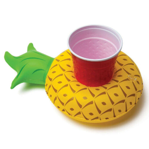 Inflatable Floating Drink Can Cup Holder Swimming Pool Toy Flamingo Unicorn 65c