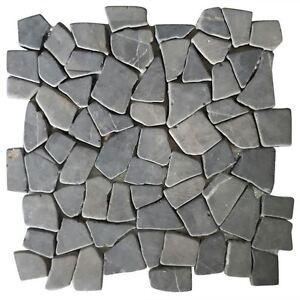 Image Is Loading Vidaxl Mosaic Marble Broken Stone Tiles Floor Wall
