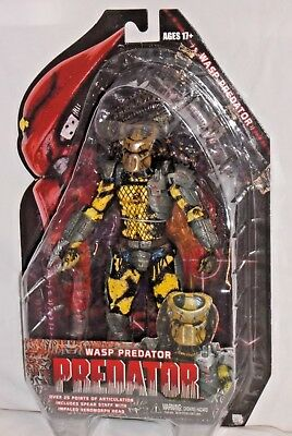 "1:12 NECA Wasp Predator Yellow Alien Hunter 7/"" Action Figure Predators Movie"