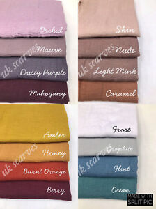 Crinkle-Scarf-Hijab-Plain-Maxi-Crimp-Scarves-HeadScarf-Frayed-Edges-Ruffle
