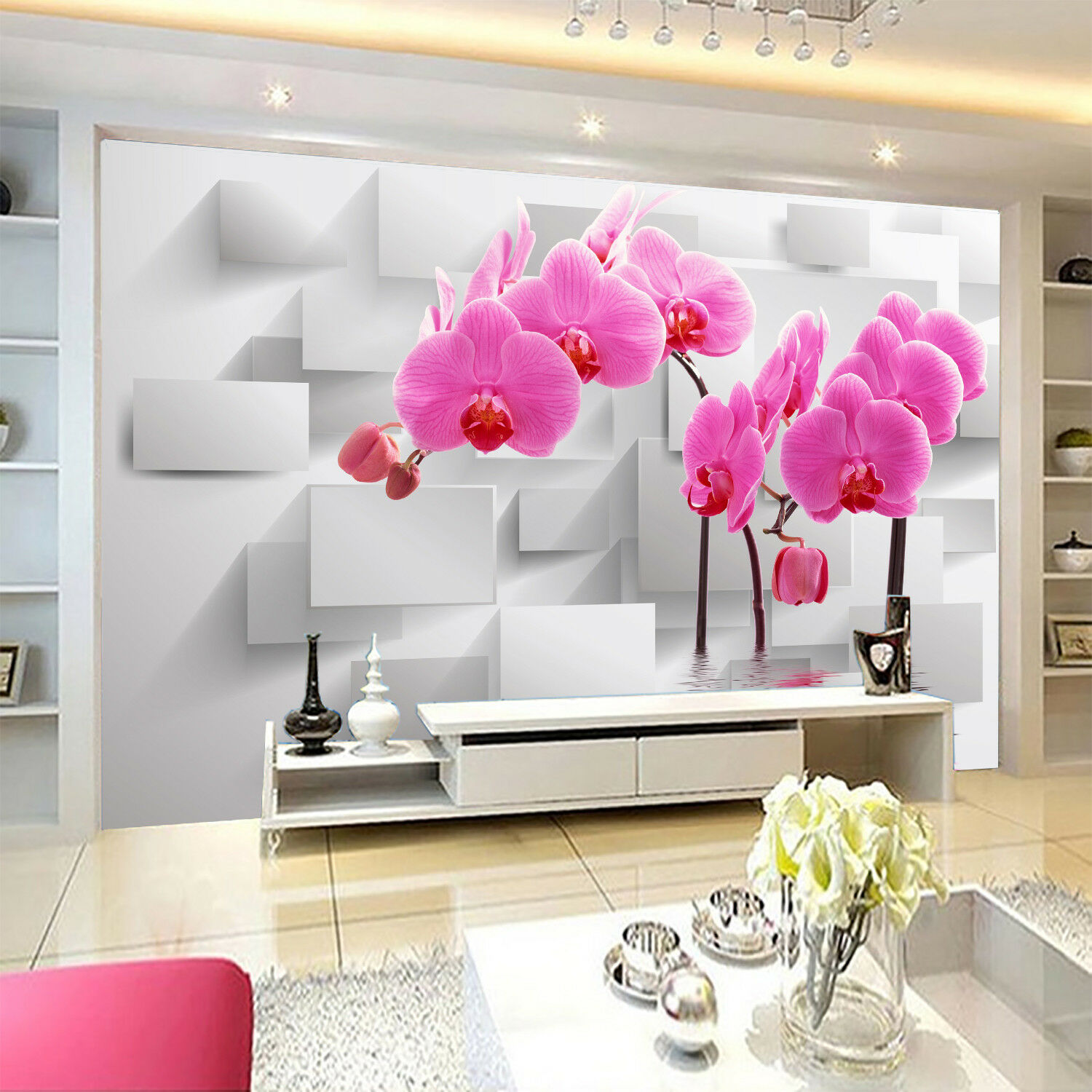 3D Phalaenopsis 5 Wallpaper Murals Wall Print Wallpaper Mural AJ WALLPAPER UK
