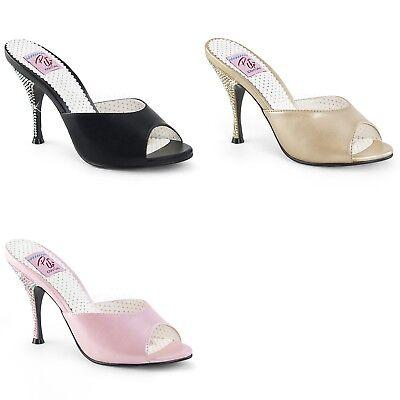 "PIN UP COUTURE Monroe-05 4 1//4/"" Heel Open Toe Sandal"