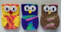 Hand Crochet Owl Cell Phone Iphone Purse Game Holder Case Cover Choose Colors