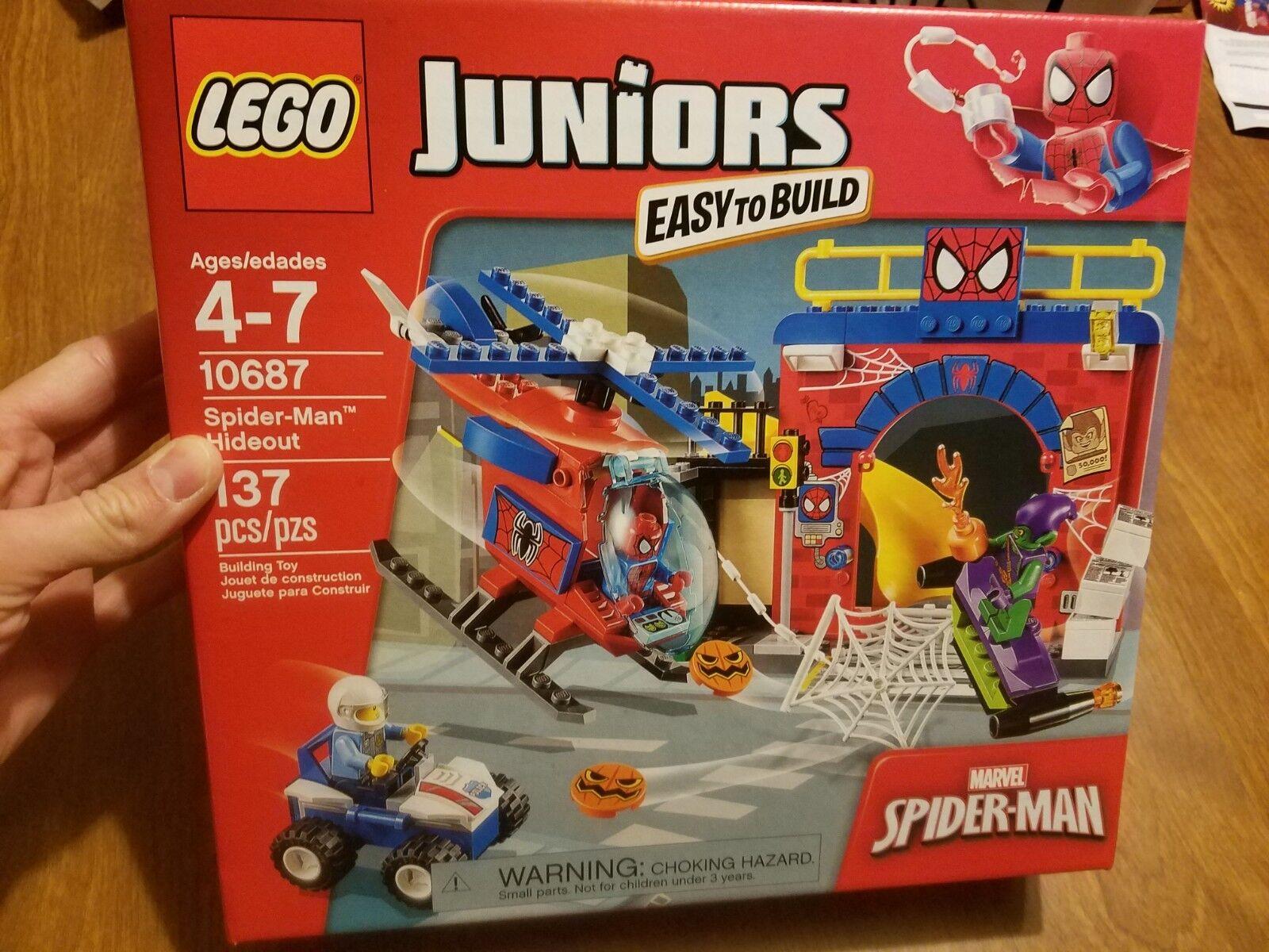 LEGO Juniors 10687 Spider-Man Hideout Âges 4-7 tout nouveau retraité   design simple et généreux