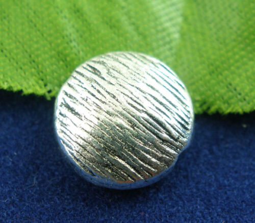 Perla de metal lente de 10 mm de plata cepillado 4x #01.00516 metal perla