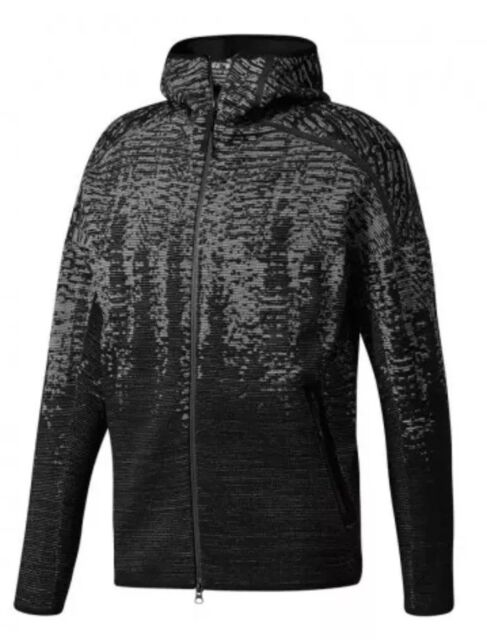 $200 Adidas Z.N.E. Pulse Knit Jacket Men's Size 2XL BlackWhite BS4877 NWT