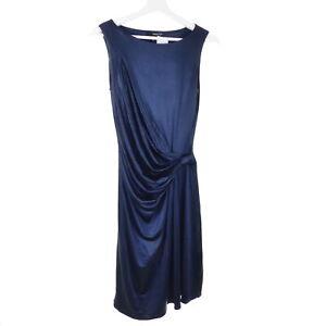 Mango Kleid Dress Abendkleid Festlich Blau Navy Glanzend Gr De Xs Eur S Ebay