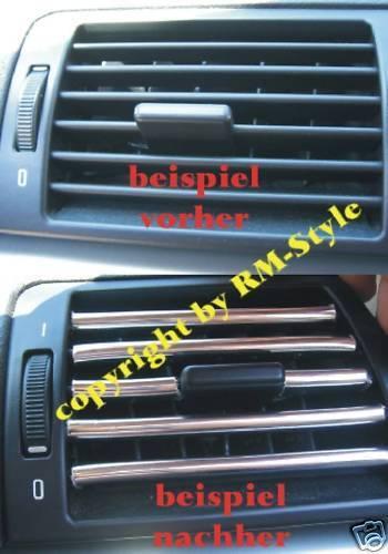 Lüftungsgitter für Opel Tigra,Zafira Chrom Zierleisten f
