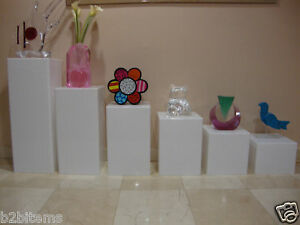 Acrylic-Lucite-Display-Cube-Pedestal-Art-Sculpture-Stan