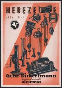 Gebr-Dickertmann-Hebezeugfabrik-AG-Bielefeld-histor-Aktie-1942-Ostwestfalen