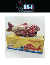 Zeckos Whale Eating Fish Vintage Style Decorative Mechanical Tin Toy For Sale Online Ebay