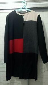 Zara-Wool-Colorblock-Dress