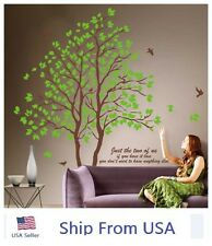 Twin Tree Removable Green Lover Vinyl Wall Art Decals Graphic for Home Decor USA