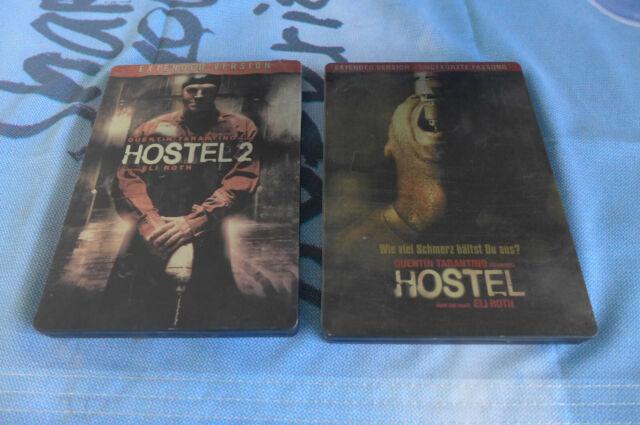 2x DVD Steelbook - Hostel 1 + 2 FSK 18