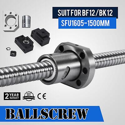 SFU1605-1500mm Ballscrew End RM1605 BF12//BK12 1 Ballscrew Nut BR Coupler Amazing