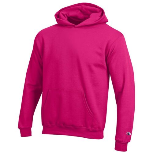 Knockout Pink XS-S Champion Youth Powerblend Sweat Pullover Hoodie Fleece