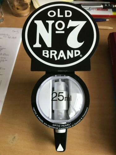 NEW JACK DANIELS ROUND  OLD NO 7 BRAND 25 ml  PUB HOME BAR DRINK  OPTIC