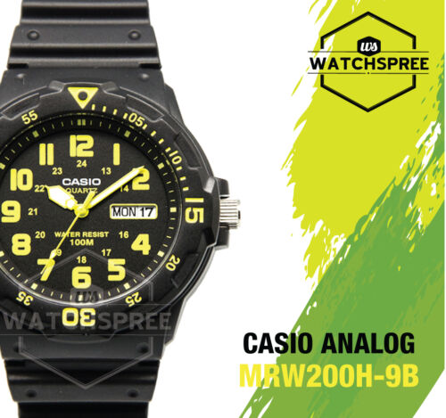 1 of 1 - Casio Diver Look Analog Watch MRW200H-9B
