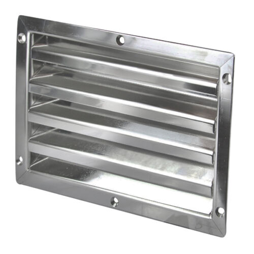 Boat Louvre Air Vent Caravan Polished Stainless Steel Welded Joint Marine