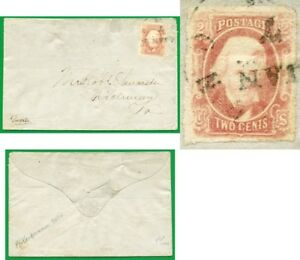 Confederate States - 8 - On cover (catalog value 1,500.00)