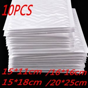 10pcs-NEW-Poly-Bubble-Mailers-Self-Seal-Padded-Shipping-Bags-Package-Envelopes