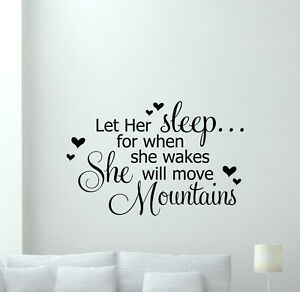 Details about Girls Quotes Wall Decal Baby Hearts Vinyl Sticker Nursery  Bedroom Decor 228crt