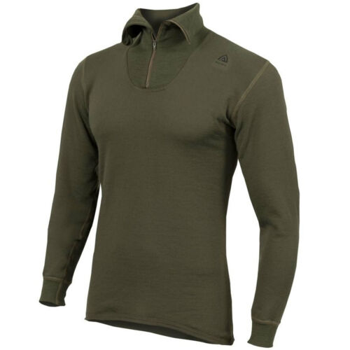 Aclima Hotwool Polo w.Zip 230 G olive night