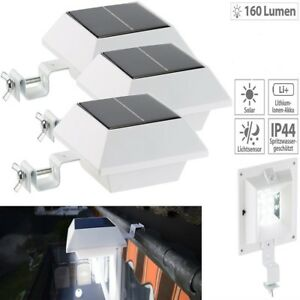 12leds solar leuchten strahler dachrinnen lampe au enlampe garten terrasse zaun ebay. Black Bedroom Furniture Sets. Home Design Ideas