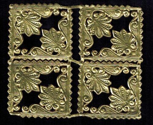 CORNERS ARTDECO GOLD SMALL GERMANY DRESDEN FOIL PHOTO HERITAGE SCRAP DECORATIVE