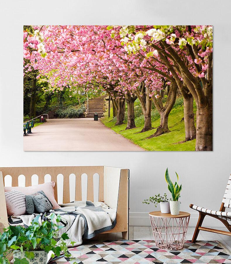 3d Schöner Schöner Schöner Garten Rosa Baum 784 Fototapeten Wandbild