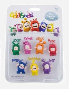 End-Up-Oddbods-Mini-Figurine-Set-of-7-NEW-Original-Worldwide-Shipping-RP2-Global