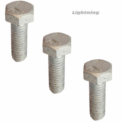 "5//8-11 x 18/"" Hex Bolts Hot Dip Galvanized Cap Screws and Nuts Quantity 25"
