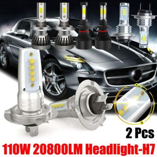 2 Stück H7 20000LM Auto CREE LED Scheinwerfer Lampen Ersatz Kit Weiß 6000K IP67