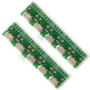 10pcs-Female-MICRO-USB-to-DIP-5-Pin-Pinboard-2-54mm-micro-USB
