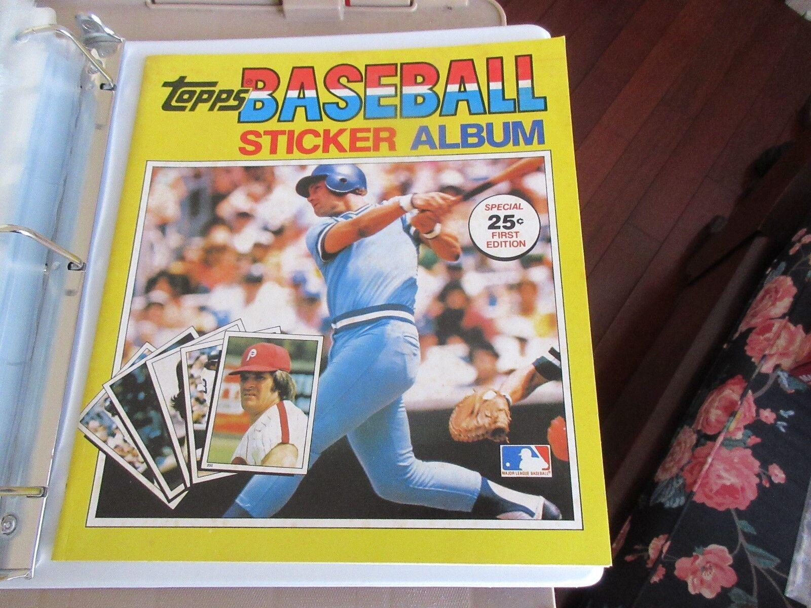 Topps BASEBALL STICKER ALBUM , 1981 , Plus Lot of 190 S