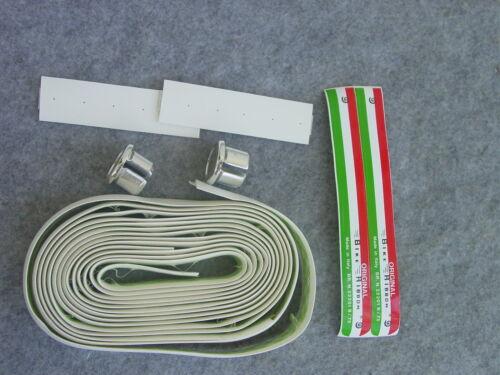 Ambrosio Handlebar Tape Bike Ribbon for White Racing Handlebar with Stoppers