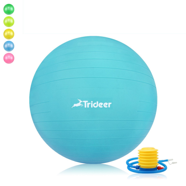 Trideer Exercise Ball Yoga Birthing With Quick Pump Anti-burst & Extra Thick for sale online | eBay