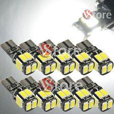 10pz Led T10 Lampade Canbus 10 SMD 5630 No Errore Luci BIANCO Xenon Posizione W5