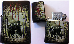 KORN-Refillable-Metal-LIGHTER-Take-A-Look-In-The-Mirror-NEW-OFFICIAL-RARE