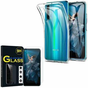Coque-Silicone-Gel-UltraSlim-Huawei-Honor-20-Pro-6-26-034-avec-Verre-Trempe