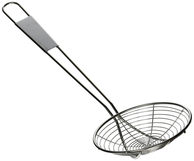 Beau Kitchen Fry Skimmer Stainless Steel Mesh Deep Fryer Oil Frying Tool Scoop  6u0027u0027