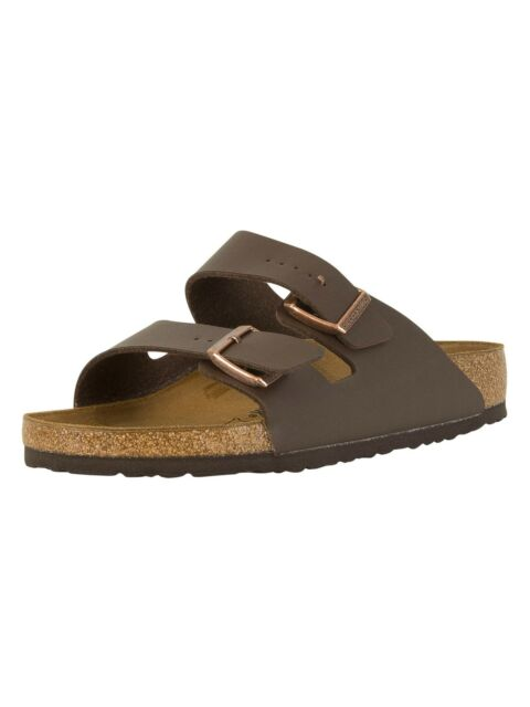 Birkenstock Men's Arizona Birko-Flor Sandals, Brown
