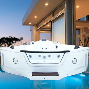 helgoland step xxl whirlpool 2 pers eckwanne radio led hydromassage badewanne 752584349876 ebay. Black Bedroom Furniture Sets. Home Design Ideas