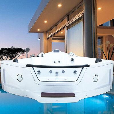 helgoland step xxl whirlpool 2 pers eckwanne radio led hydromassage badewanne - Whirlpool Badewanne Designs Jacuzzi