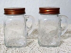 Image Is Loading Olde Thompson Mason Jar Salt And Pepper Shakers